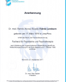 Anerkennung Dr. Febres